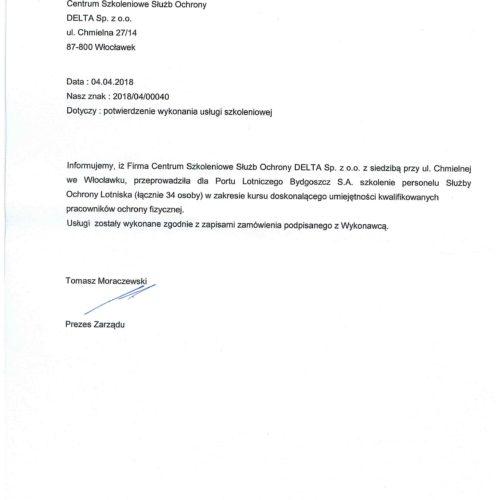 Rekomendacja – Port Lotniczy Bydgoszcz S.A. – kwiecień 2018
